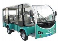 11 sets white color electric sightseeing car with door