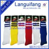 Rayé personnalisé football chaussettes en différentes couleurs