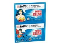 Duo de lingettes nettoyantes PowerClean Superman & Wonder Woman EMTEC