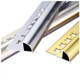 Anti-rust stainless steel 304 tile edge trim for bathroom marble wall