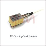 12 Pins Mini single-ended Fiber Optic Switch for Metropolitan Area Network