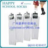 Jeunes filles chaussettes blanches scolaires / école de design filles longues chaussettes