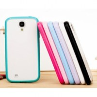 BONBON coque avec bumper souple en PU pour Samsung Galaxy SIV i9500(
