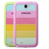 RAINBOW style coque avec bumper souple en PU pour Samsung Galaxy Note II N7100 Galaxy...