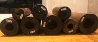 Roulements en bois prêts à être utilisés comme roulements de tube d'étambot (roulement d'arbre d'...)