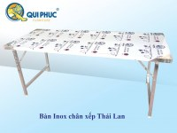 Acier Inoxydable Table Pliante Rectangulaire