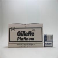 Gillette Platinum Recharge Lames 5 pc (x20 petites boites) (pour rasoir racleur) x12 sa...