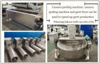 304 stainless steel garri production machinery cassava processing equipments