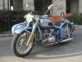 750CC 32HP Fashion Shinny Blue Motorcycle with Sidecar