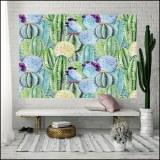 Wall hanging cactus flamingo tapestry bohemian cover beach towel throw blanket picnic...