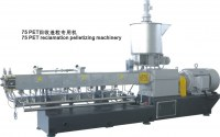 PET clean flakes recycling extruder machine
