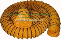 Air ventilateur orange Flexible de canalisation tuyau