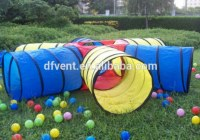 Colorful chien agilité formation ouvert tunnel PVC chien tunnel