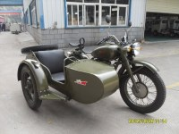 Customized Army Yellow 250cc Motorcycle Sidecar