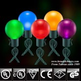 G40 Glass Pearl Paint LED Christmas String Lights