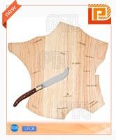 Polygonal wooden cheese cutting board