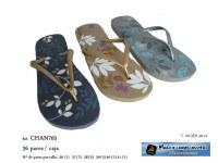 Chaussures d'été - Tongs a feuilles