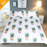 Pineapple Bedding Set Sweet Printed Fruit Bedsheet Soft Microfiber Duvet Cover Set 3 Pc...