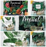 Hot Sale Tropical Plant Pattern Wall Cloth Hanging Tapestry Beach Towel Yoga Picnic Mat...