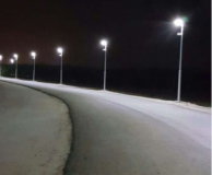 30W All in One Integrated LED Solar Street Light 160LM/W