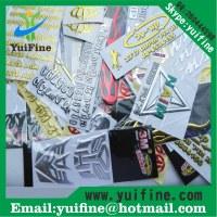 Customized Logo 3D Soft PVC Label Soft Flexible Plastic Silver/Gold Sticker PVC Tag Wit...