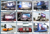 LED outdoor advertisement vehicle