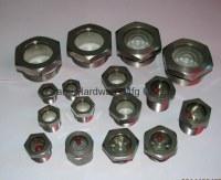 Fused Sight glass steel nickel plated