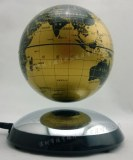 SmallDeco Maglev Magnetic Rotating Levitation Floating Rotating 6 inch Globe With Semi...