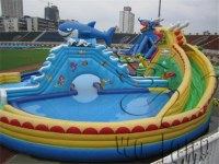 Commercial outdoor kids water play aqua park for sale