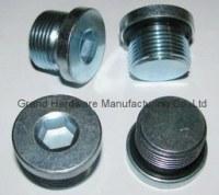 Hydraulic hex socket oil drain plug