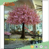 Newest product plastic leaves pink artificial indoor cherry blossom tree