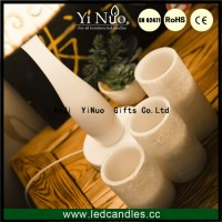 Remote Control Scented Wax Led Flameless Candles Set of 3
