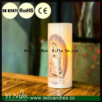 Virgin Mary Water Stick LED Flameless Candle with Remote Control