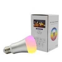 WiFi Smart LED Light Bulb - Smartphone Controlled Dimmable Multicolored Color Changing Lights - Works with iPhone, iPad, Android Phone and Tablet