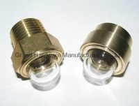 Domed shape Brass Oil sight glass