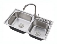 Stainless steel sink DOSCseries (with knife rest)