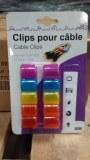 10 Clips de marquage pour câbles avec autocollants