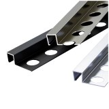 Direct factory price tile trim mirror finished square shape stainless steel tile trim