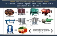 1-5t/H Small Scale Africa Palm Oil Press Milling Extraction Processing Machine