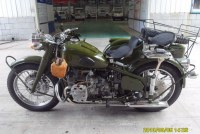 Hot Sale 750cc 32hp Army Green Motorcycle Sidecar Bike with Ammo Cans