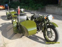 Customized Army Yellow Color Cj750 Motorcycle Sidecar