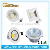 5w 7w 9w 12w 15w 18w dimmable cob led downlight