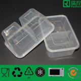 Plastic Lunch Box&,Takeaway Food Container with Two Compartments