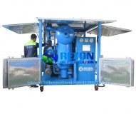 Machine élevée de filtration d'huile de transformateur de vide de double étape 9000 litres par heure