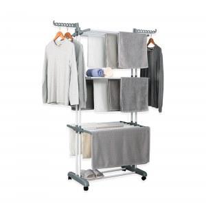 Herzberg HG-8034GRY: Porte-vêtements de Déménagement - Grijs