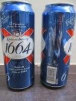 French Kronenbourg 1664 Bleu Beer