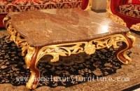 Meubles AC-268A de salon de table d'antiquité de table basse de marbre de fournisseur...
