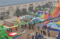 Inflatable obstacle course equipment