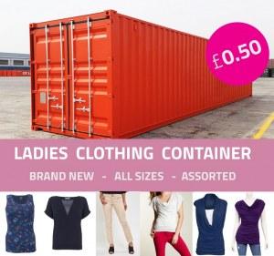 Offre de conteneur de vêtements pour femmes