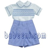 Smocked newborn boy clothes- BC 077